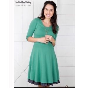 Matilda Jane Dress in Green and Navy